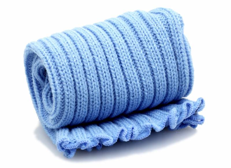 Extra long Stirr-up Knit Legwarmers Baby Blue