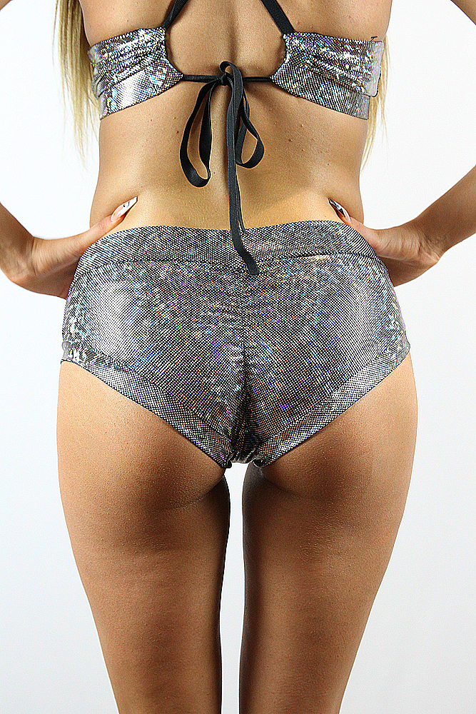 Rarr designs Silver Shattered Naughty Fit Shorts