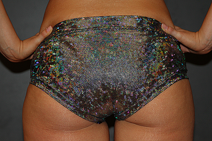 Silver Shattered Naughty Fit Shorts