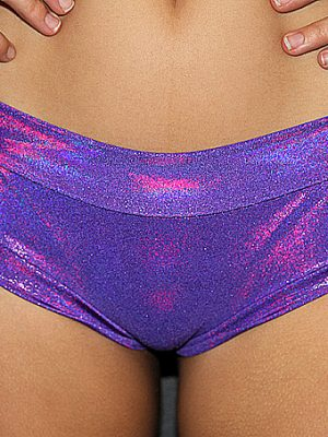 Purple Sparkle Naughty Fit Shorts