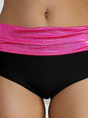 Pink Sparkle Naughty Short Plain & Scrunchie Bum