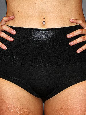 Black Sparkle Naughty Short Plain & Scrunchie Bum