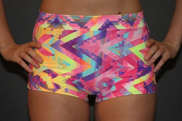 Aztec High Waist Cheeky Shorts