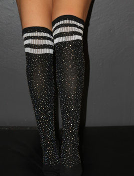 Rhinestone Knee high Football socks Rarr designs
