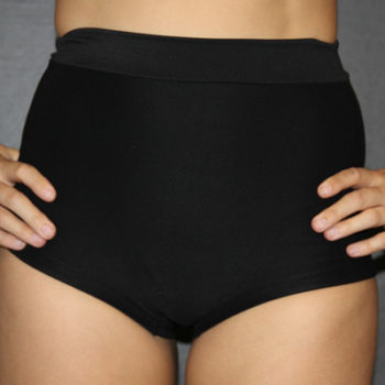 Matte Black High Waist Cheeky Short Rarr designs
