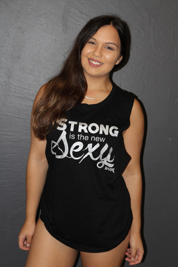 Strong is NEW Sexy Black Muscle Tank Rarr designs