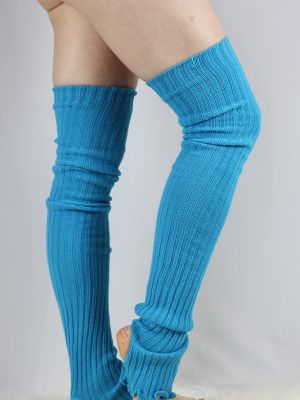 Rarr designs Extra long Stirr-up Knit Legwarmers Turquoise