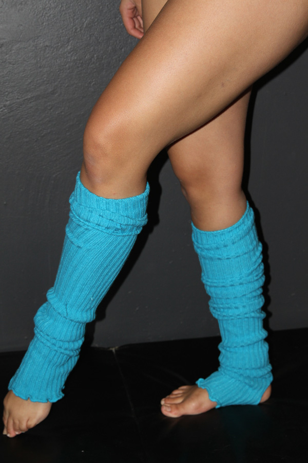 Extra long Stirr-up Knit Legwarmers