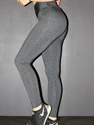 Dark Grey Marle Full Length Tights Legging