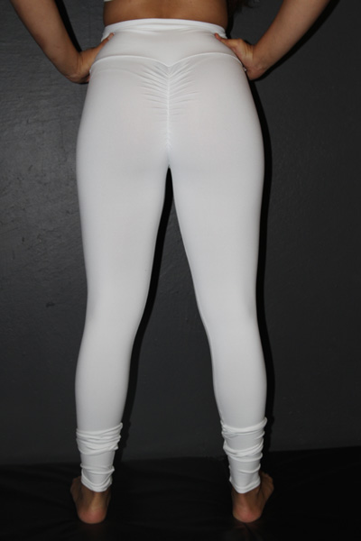 White Full Length Tights Legging