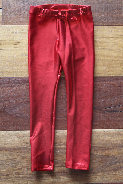 Red Sparkle Youth Leggings Tight