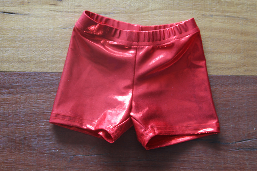 Red Sparkle Short Youth Girls
