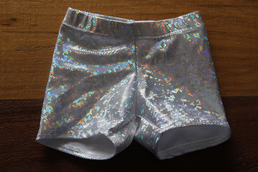 White Sparkle Short Youth Girls