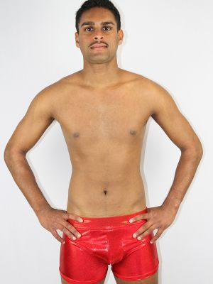 Red Sparkle Men's Trunk