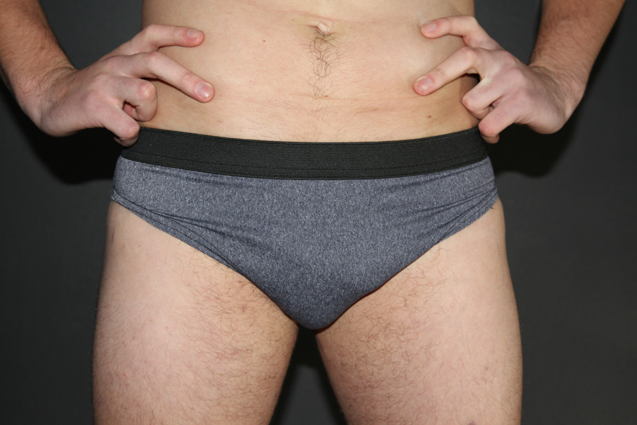 Men's Brief Dark Grey Marle