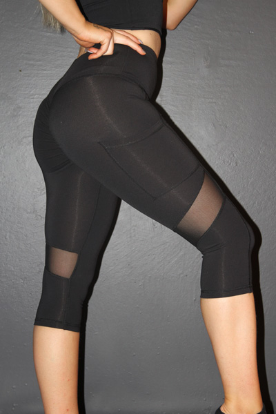 Studio Mesh 3/4 Length Tight Black