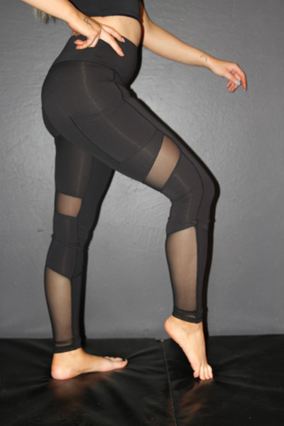 Studio Mesh Full Length Tight Black