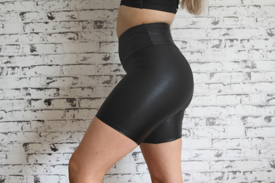 Black Sparkle Bike Short