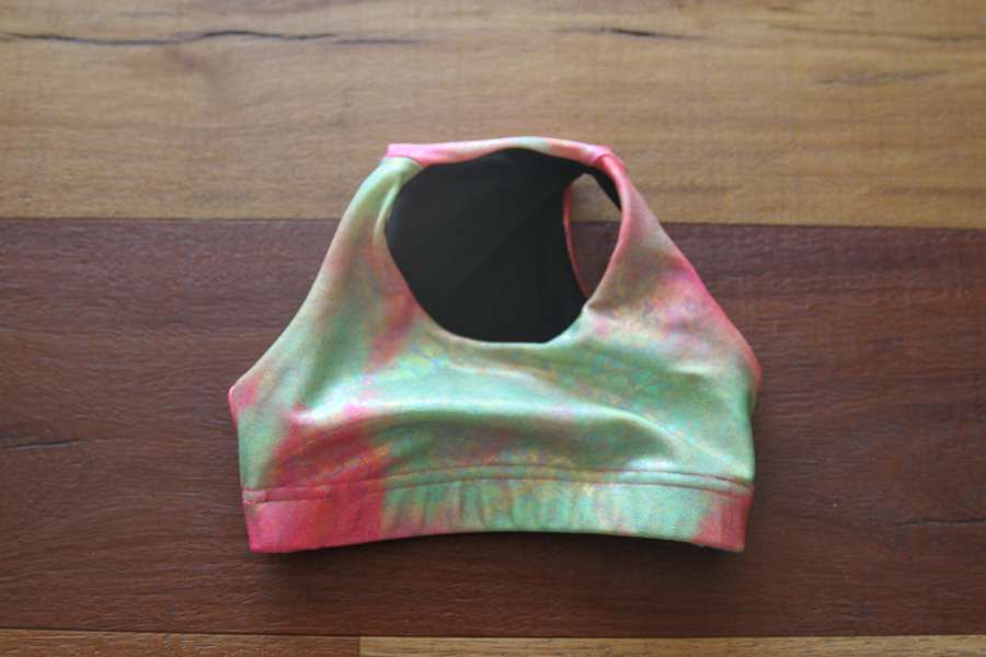 Sunset Crop Top Sports Bra Youth Girls