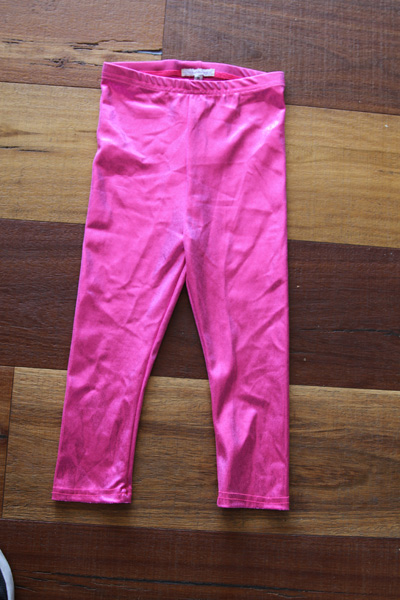 Pink Sparkle Youth Girls Leggings Tight
