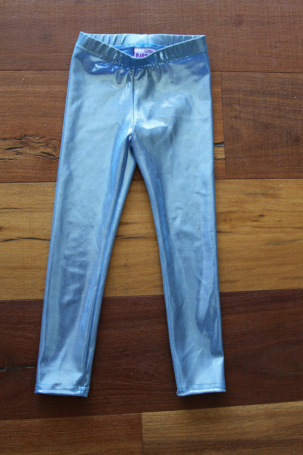 Baby Blue Sparkle Youth Leggings Tight