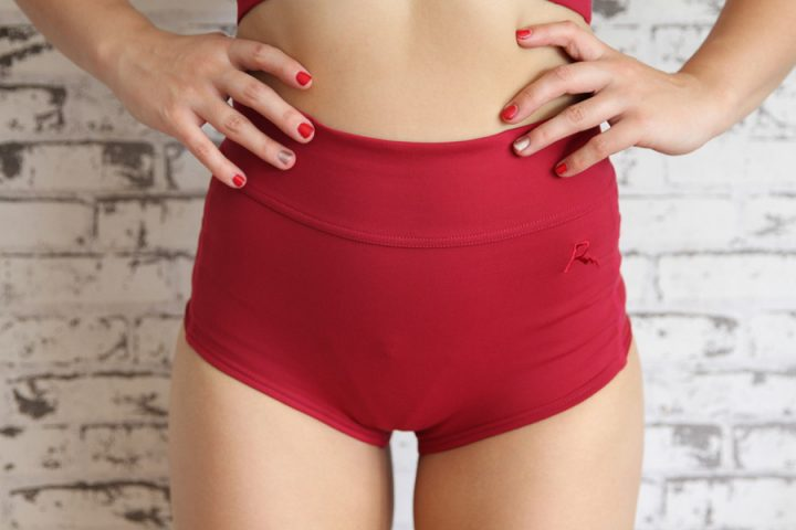 High waist scrunch bum short rarrdesigns
