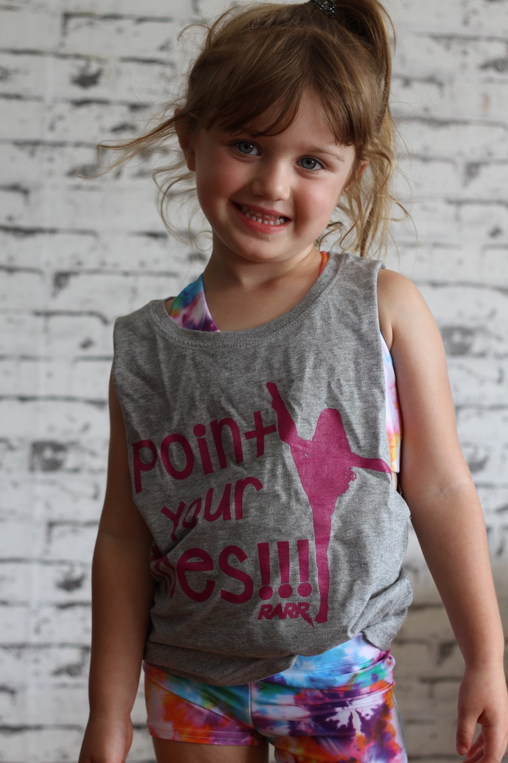 Point your Toes Youth Tank GREY MARLE