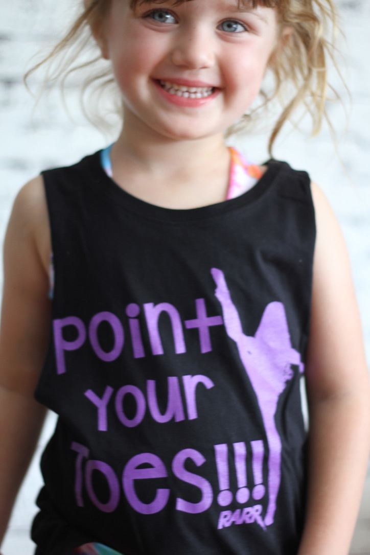 Point your Toes Youth Tank BLACK