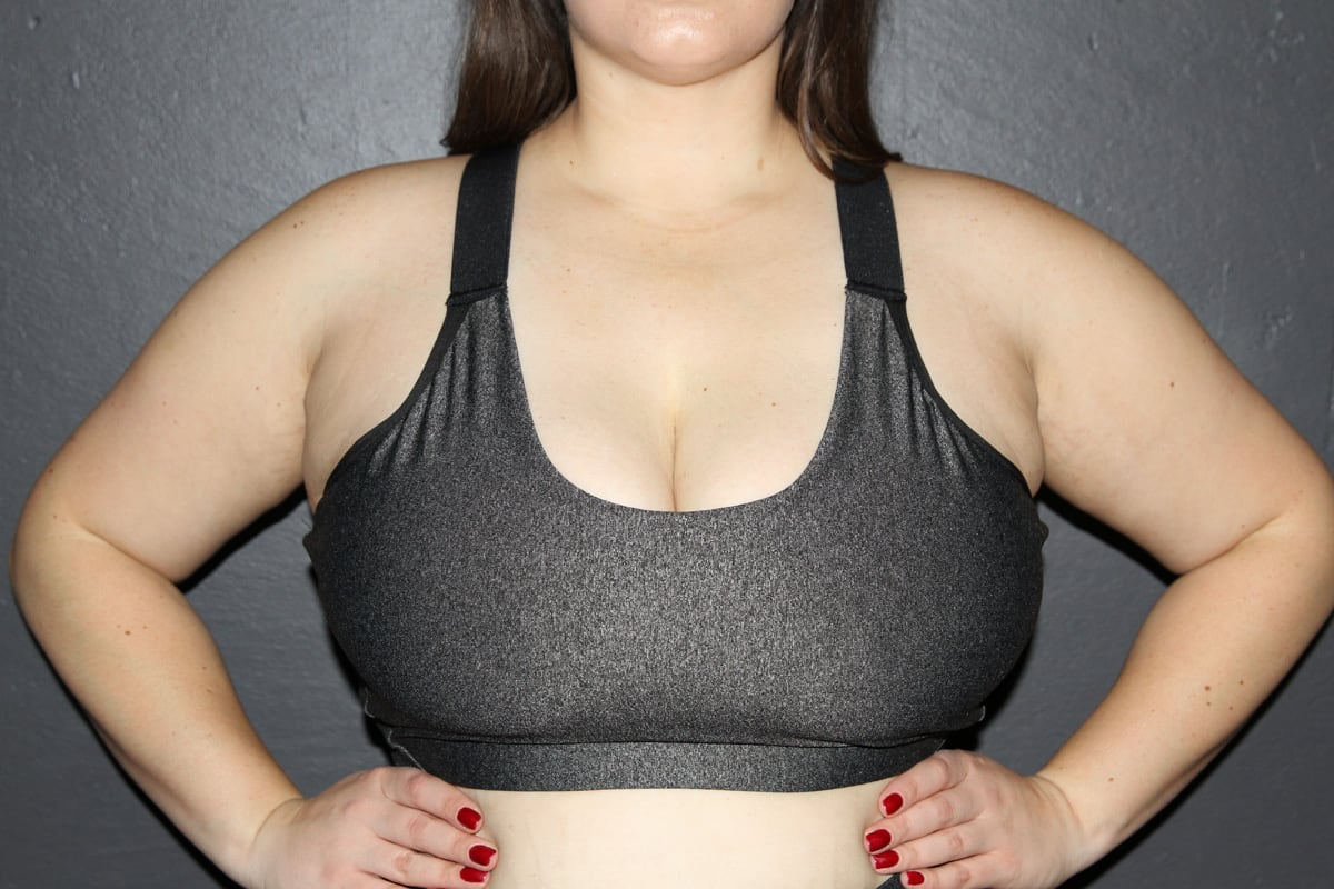 Dark Grey Marle V Sports Bra