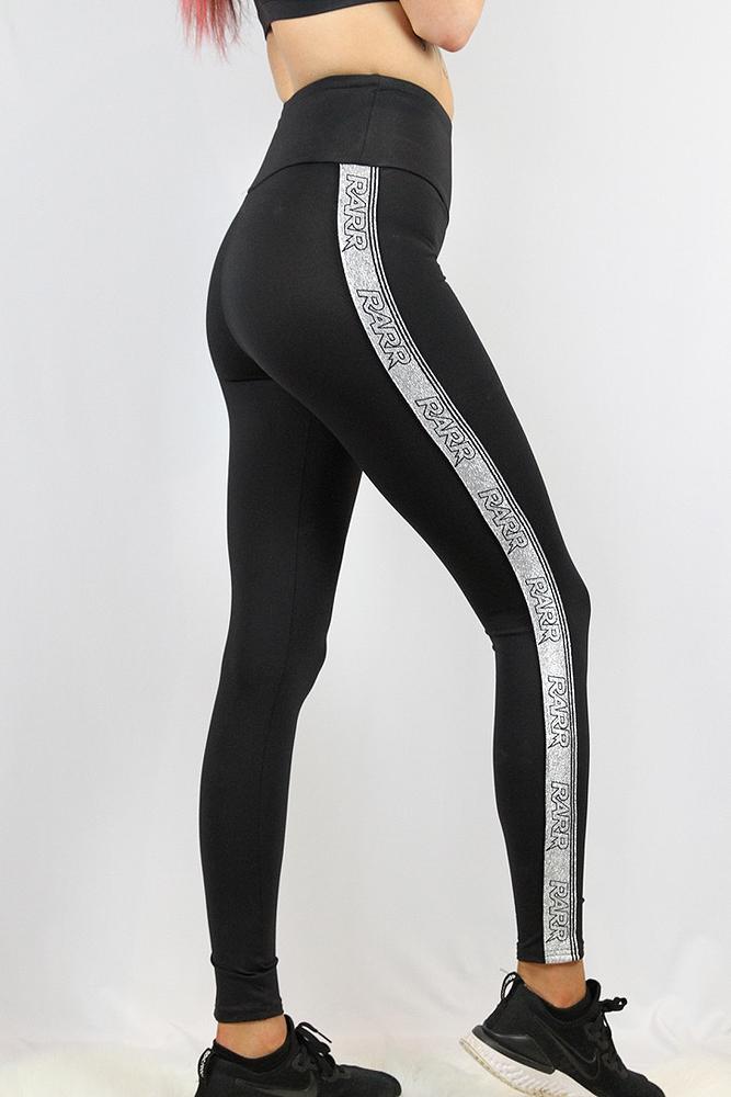 Rarr designs Stronger Black Full Length Leggings/Tights