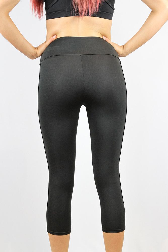 Rarr designs Stronger Black 7/8 Length Leggings/Tights