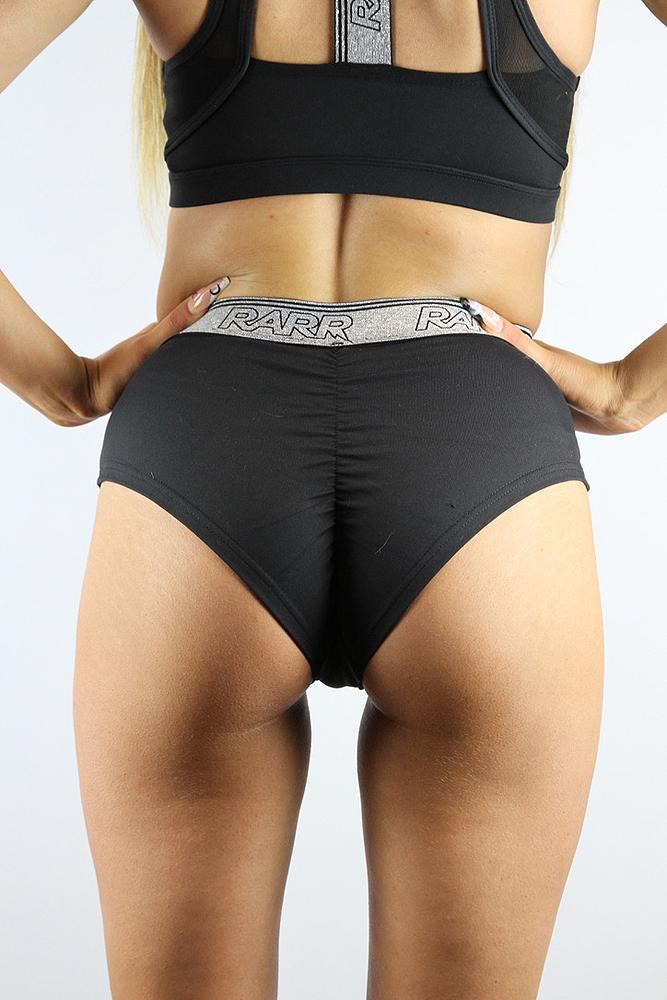 Rarr designs STRONGER High Waisted Booty Short Black