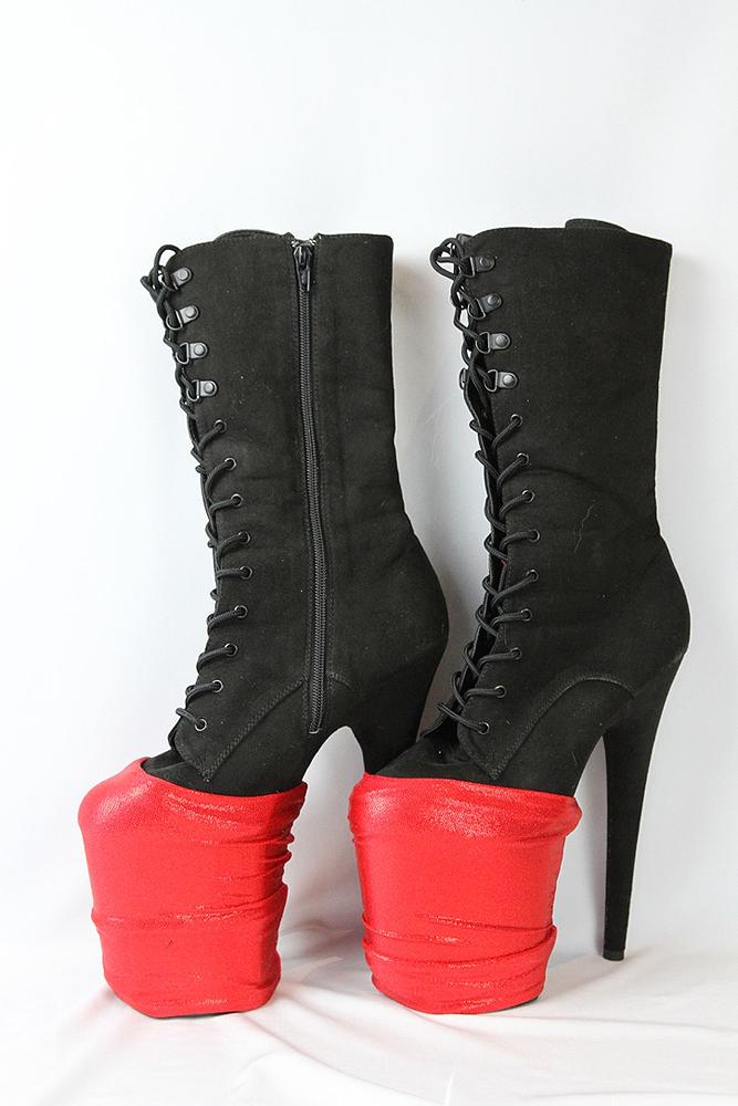 Rarr designs RED SPARKLE Shoe Protectors