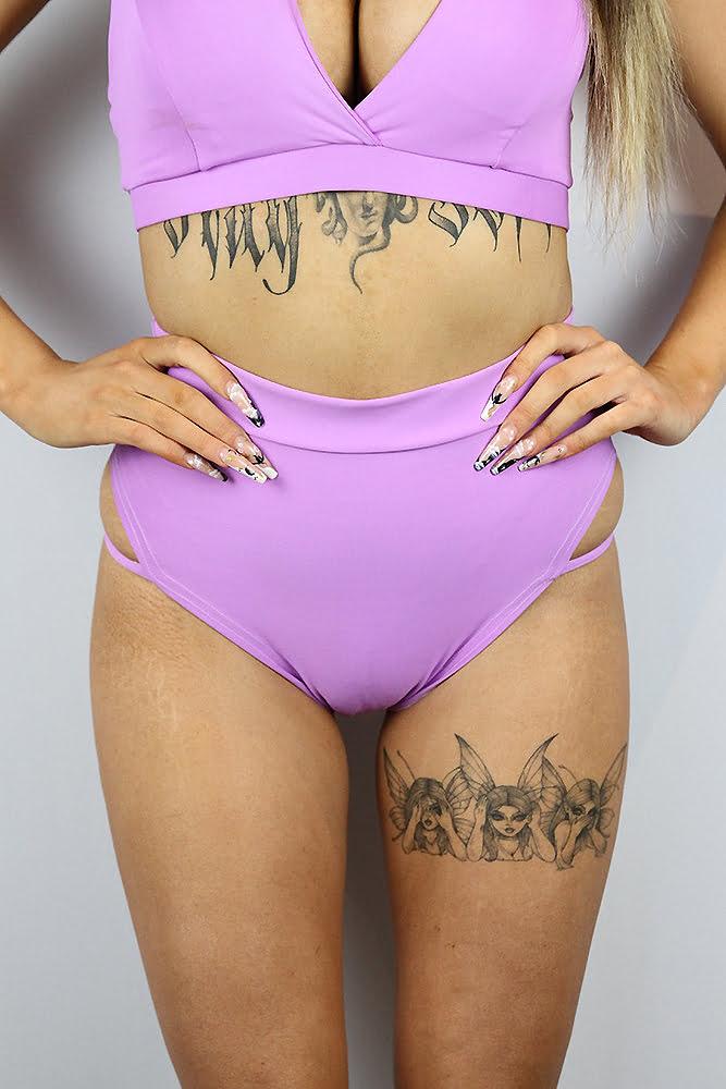 Rarr Designs Orchid Strap High Cut BRAZIL Scrunchie Bum Shorts
