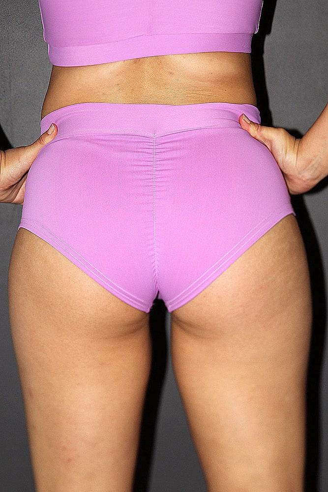 Orchid High Waisted BRAZIL Scrunchie Bum Shorts