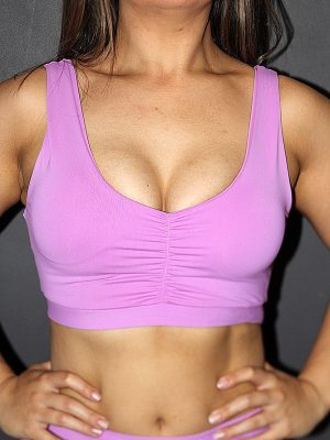 Rarr designs Orchid Sweet Scoop Sports Bra