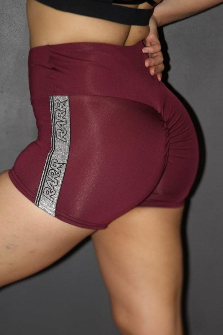 Rarr designs STRONGER Black Gym Short