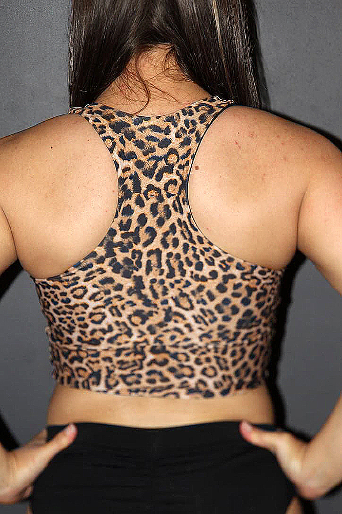 Rarr designs Animal Long Line Racer Back Bra