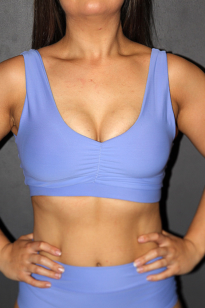 Rarr designs Cornflower Sweet Scoop Sports Bra