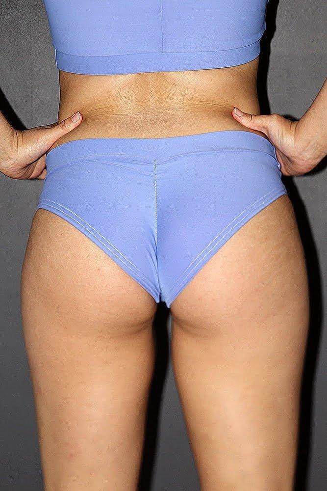 Rarr designs Cornflower BRAZIL Fit Scrunchie Bum Shorts