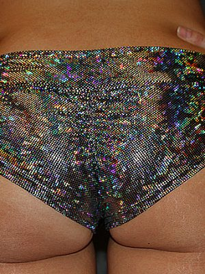 Silver Shattered BRAZIL Fit Scrunchie Bum Shorts