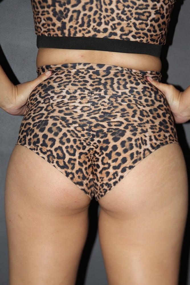 ANIMAL SUPER High Waisted BRAZIL Scrunchie Bum Shorts