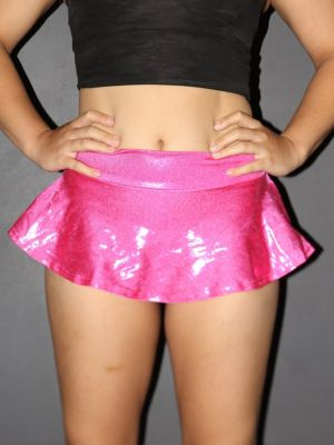 Rarr designs Pink Sparkle High Waisted BRAZIL Scrunchie Bum Skort