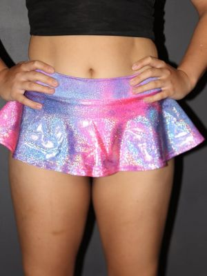 Rarr designs Candy Sparkle High Waisted BRAZIL Scrunchie Bum Skort