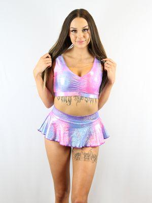 Rarr designs Candy Sparkle Mid Waisted Skort