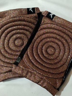 Rarr designs Glitter MULTI Spandex Vinyl/Mesh Grip Knee Pads