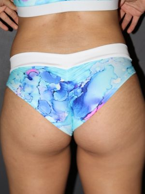 Rarr designs Watercolour BRAZIL Fit Scrunchie Bum Shorts