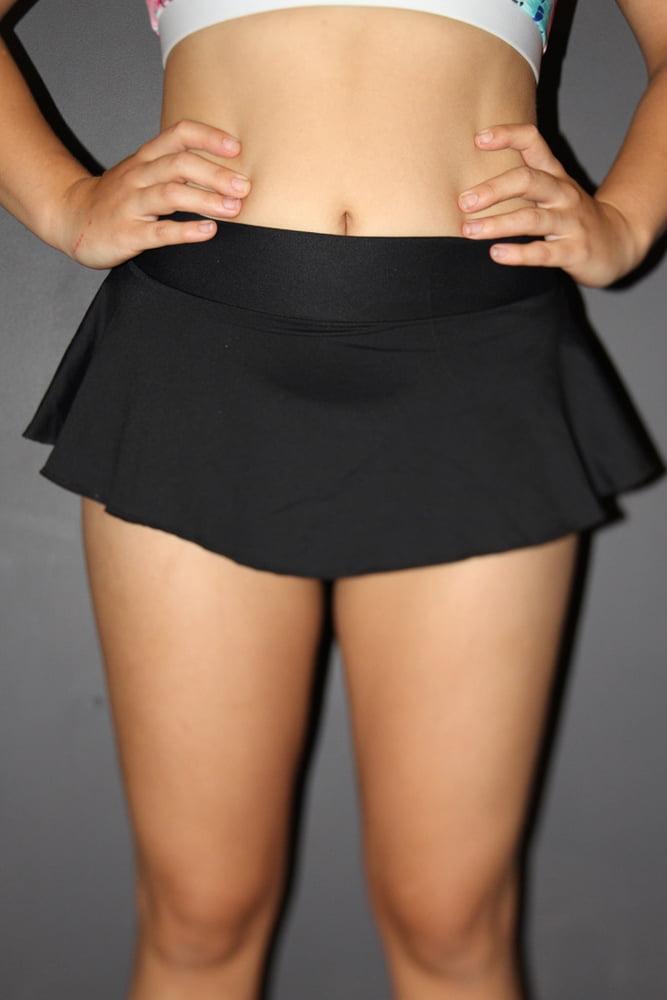 Rarr designs Matte Black High Waisted BRAZIL Scrunchie Bum Skort