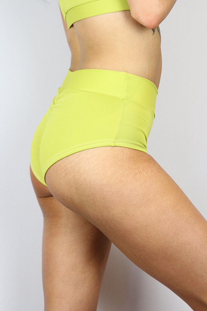 Rarr designs Citrine High Waisted BRAZIL Scrunchie Bum Shorts