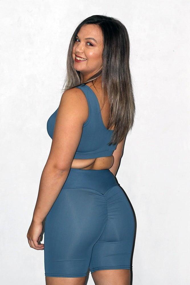 Rarr designs Smoky Blue Gym Short